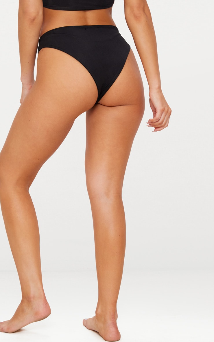 Black Mix & Match High Waisted Bikini Bottom 4