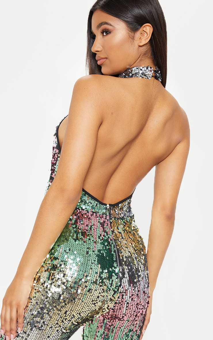 Sequin Open Back Jumpsuit 5