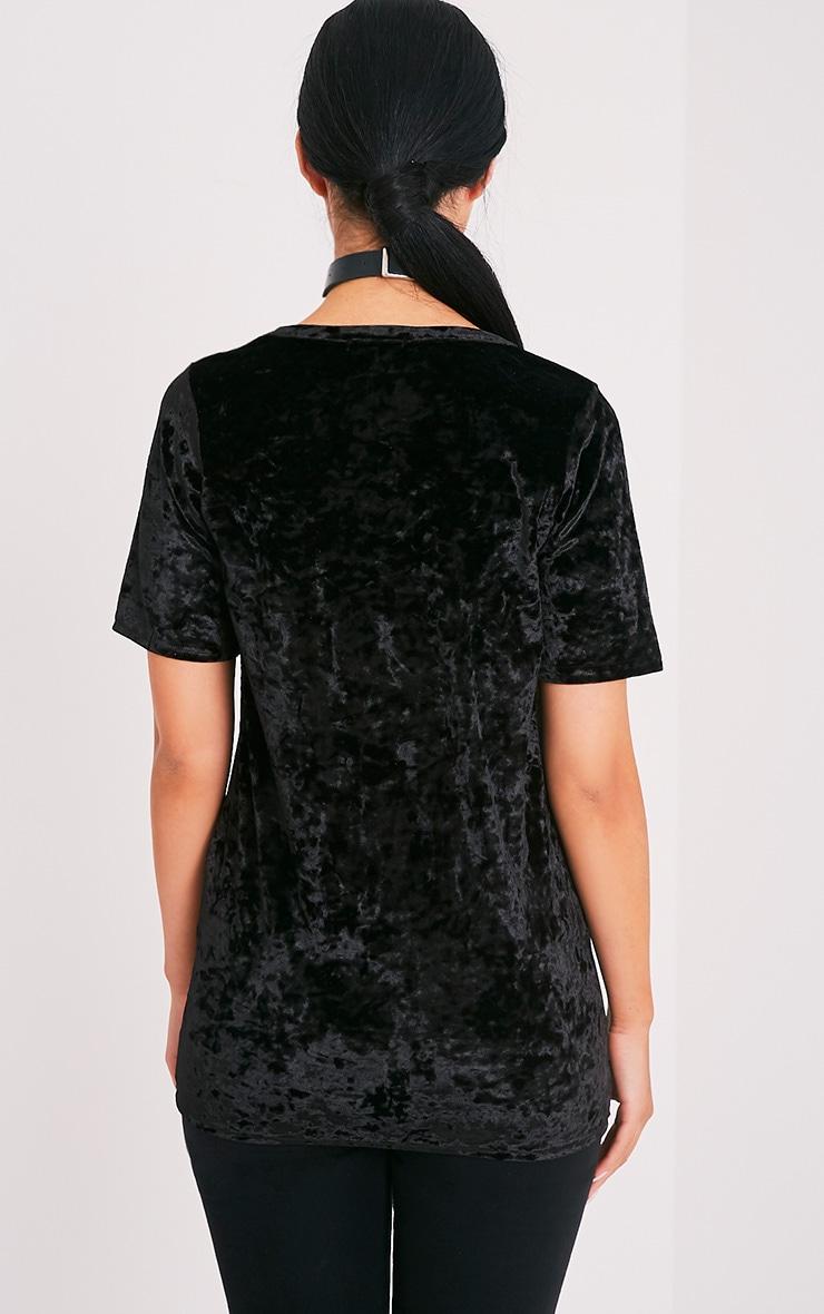 Suri t-shirt surdimensionné côtelé en velours noir 2