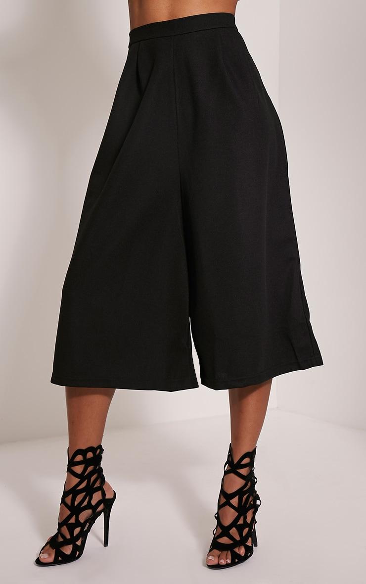 Rosine Black Textured Culottes 4