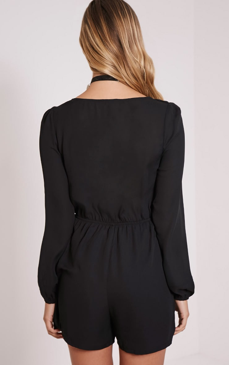 Lima Black Tie Front Playsuit 2