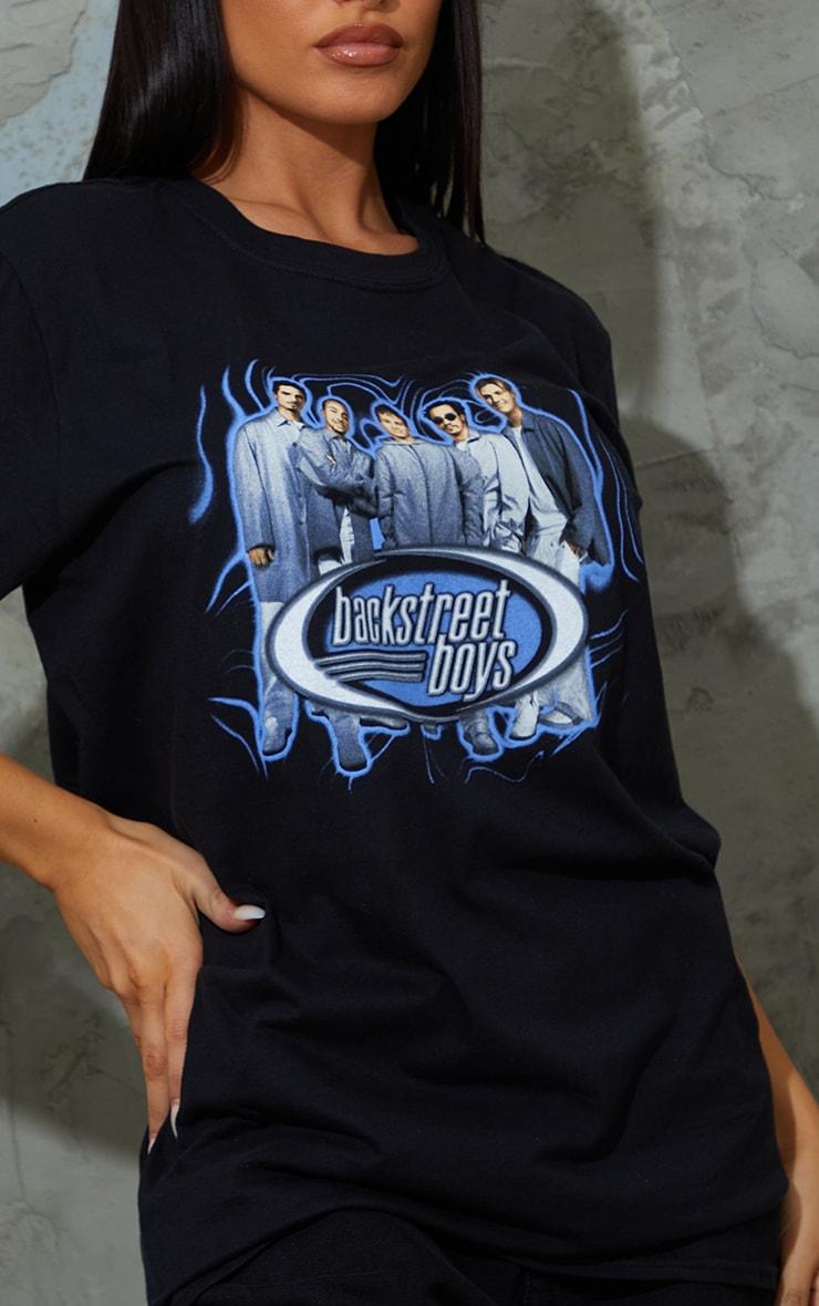 Black Backstreet Boys Printed T Shirt 4