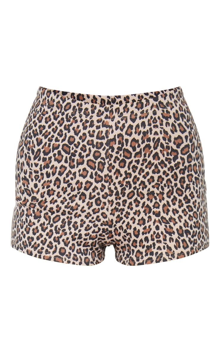 Tan Leopard Print Hot Pants Short 6