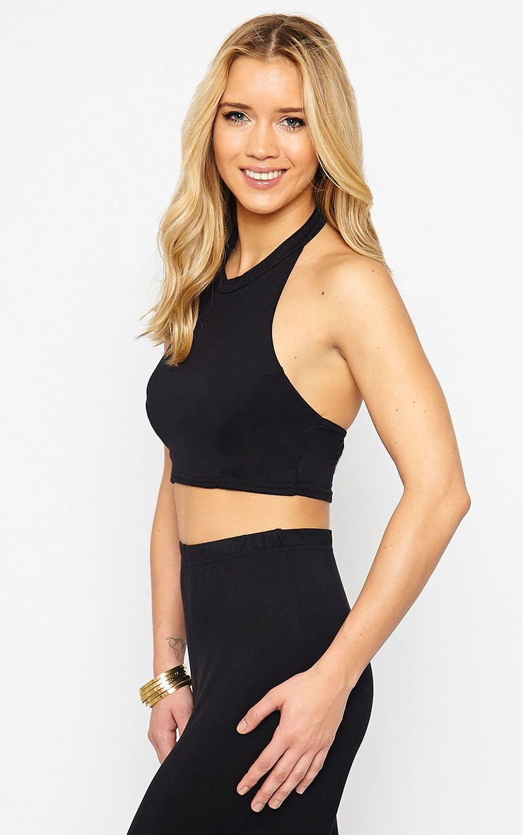 Radley Black Halterneck Crop Top 4
