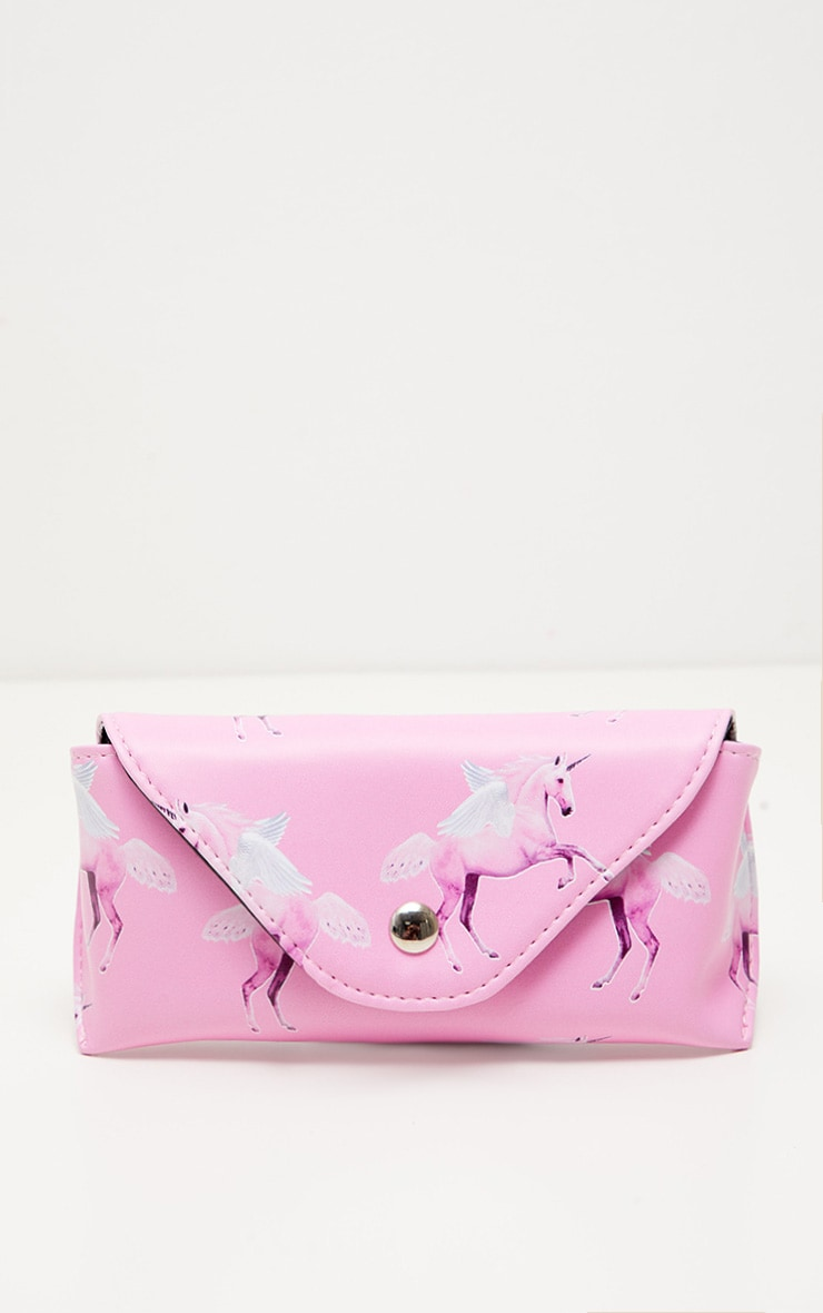 PRETTYLITTLETHING Unicorn Pink Sunglasses Case 3