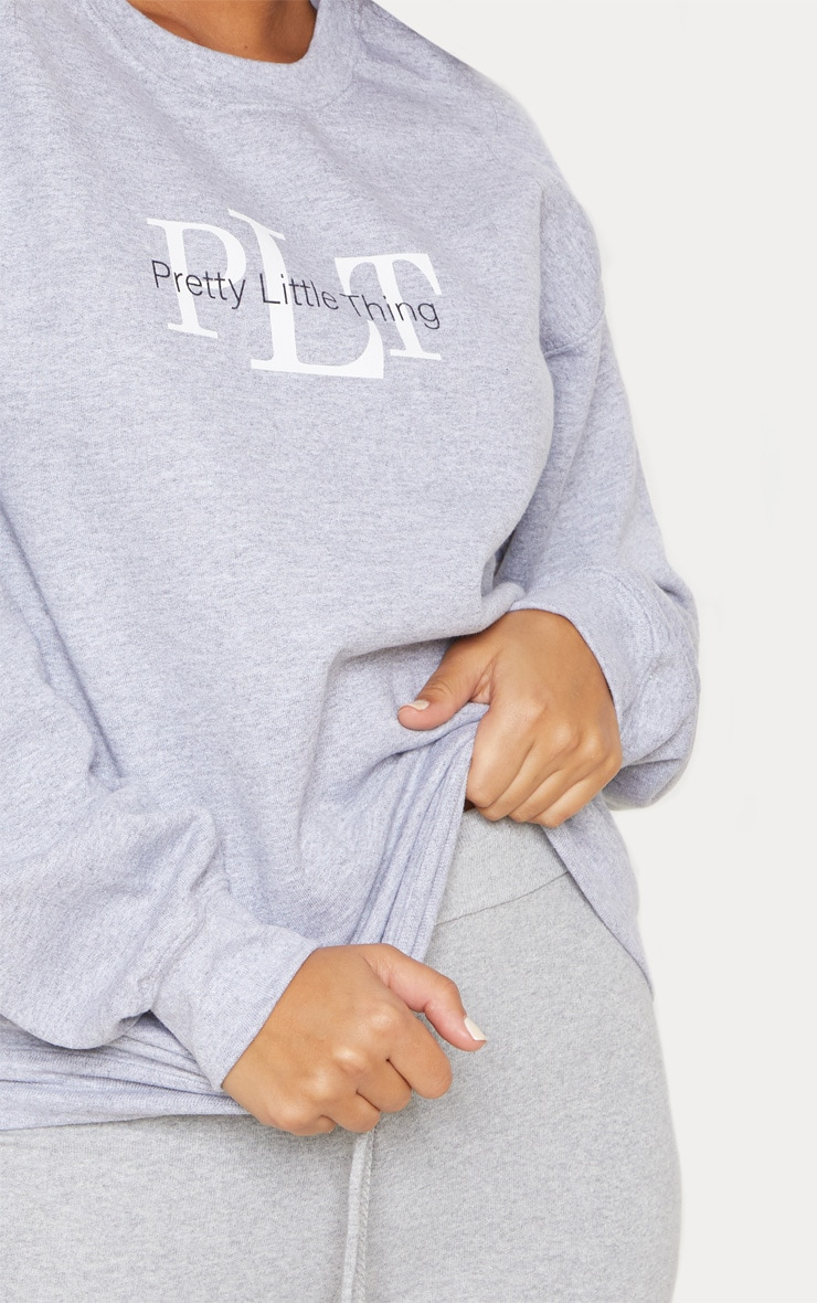 PRETTYLITTLETHING Grey Marl Sweater 5