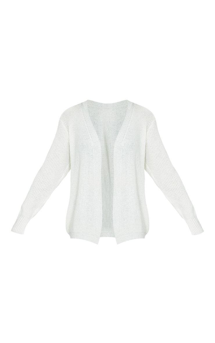Cream Super Soft Cosy Knitted Slouchy Cardigan 5