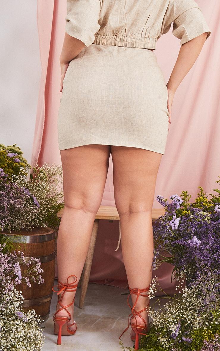 Plus Stone Adjustable Ruched Mini Skirt 3