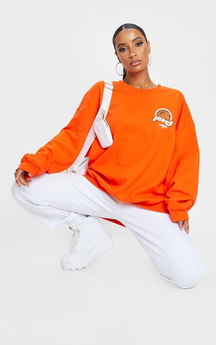 Orange Basketball Varsity Sweatshirt 3