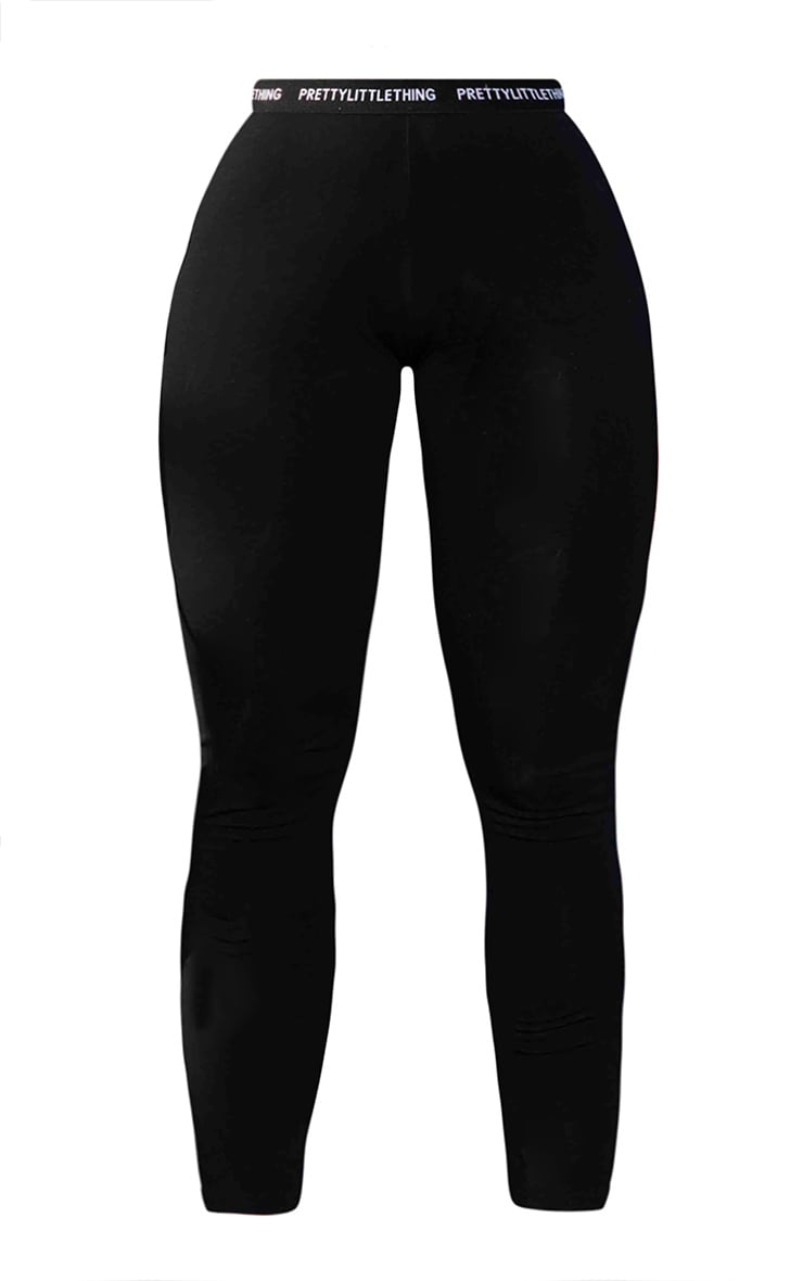 PRETTYLITTLETHING Shape Black High Waisted Leggings 5