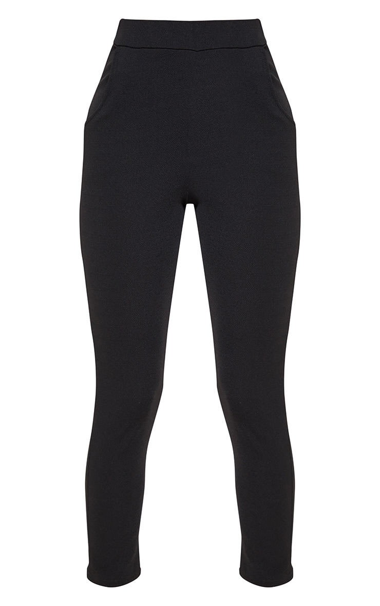 Sage Black Crepe Skinny Trousers 3