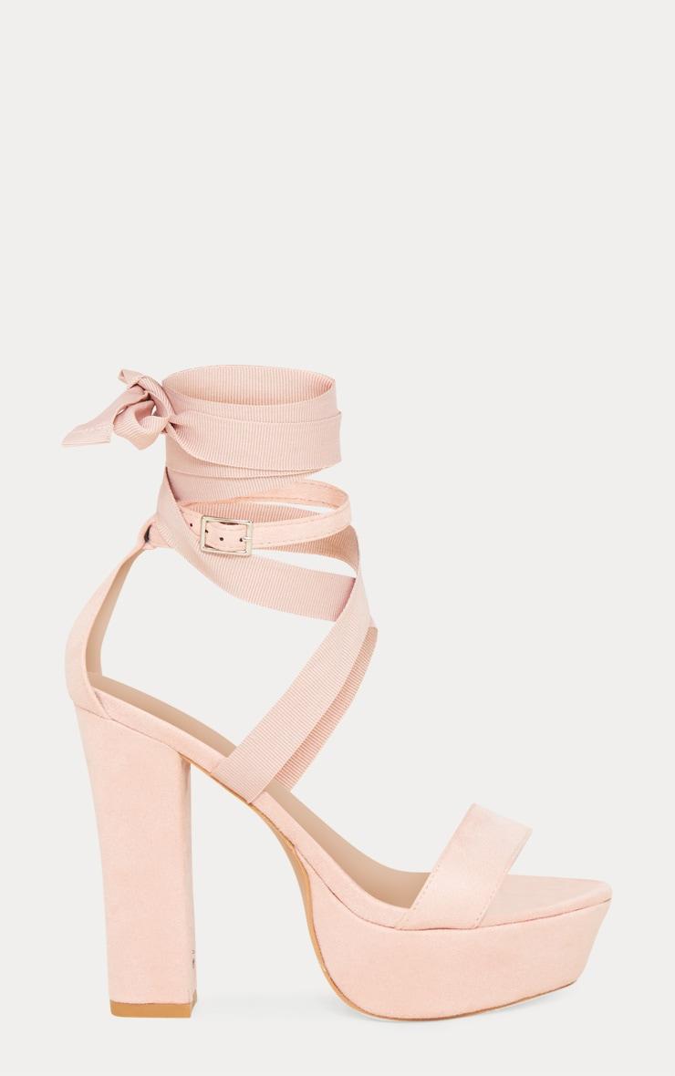 Nude Leg Wrap Platform Sandal 3