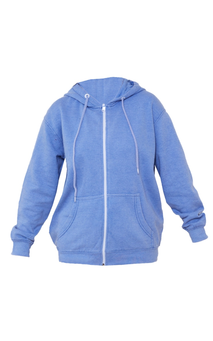 Petite Blue Washed 90's Hoodie 5