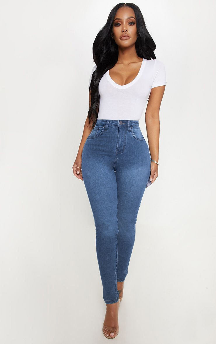 Shape Light Wash High Waist Skinny Jean 1