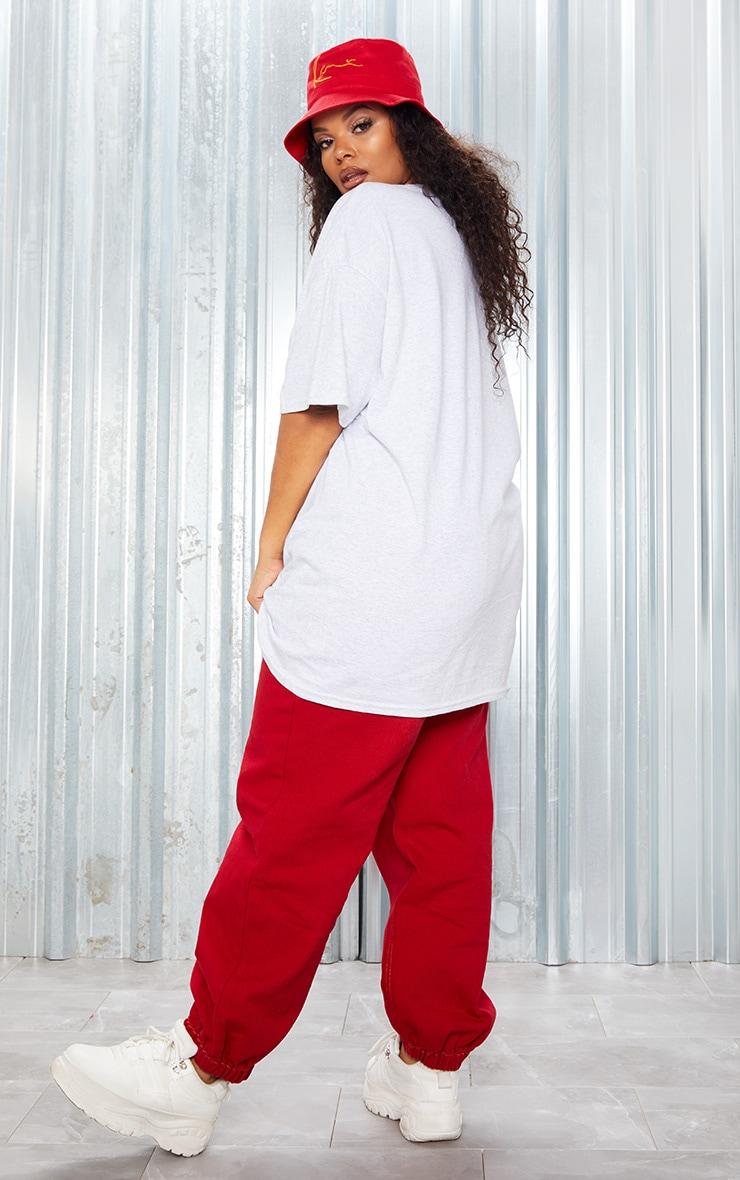KARL KANI Grey Embroidered T Shirt 4
