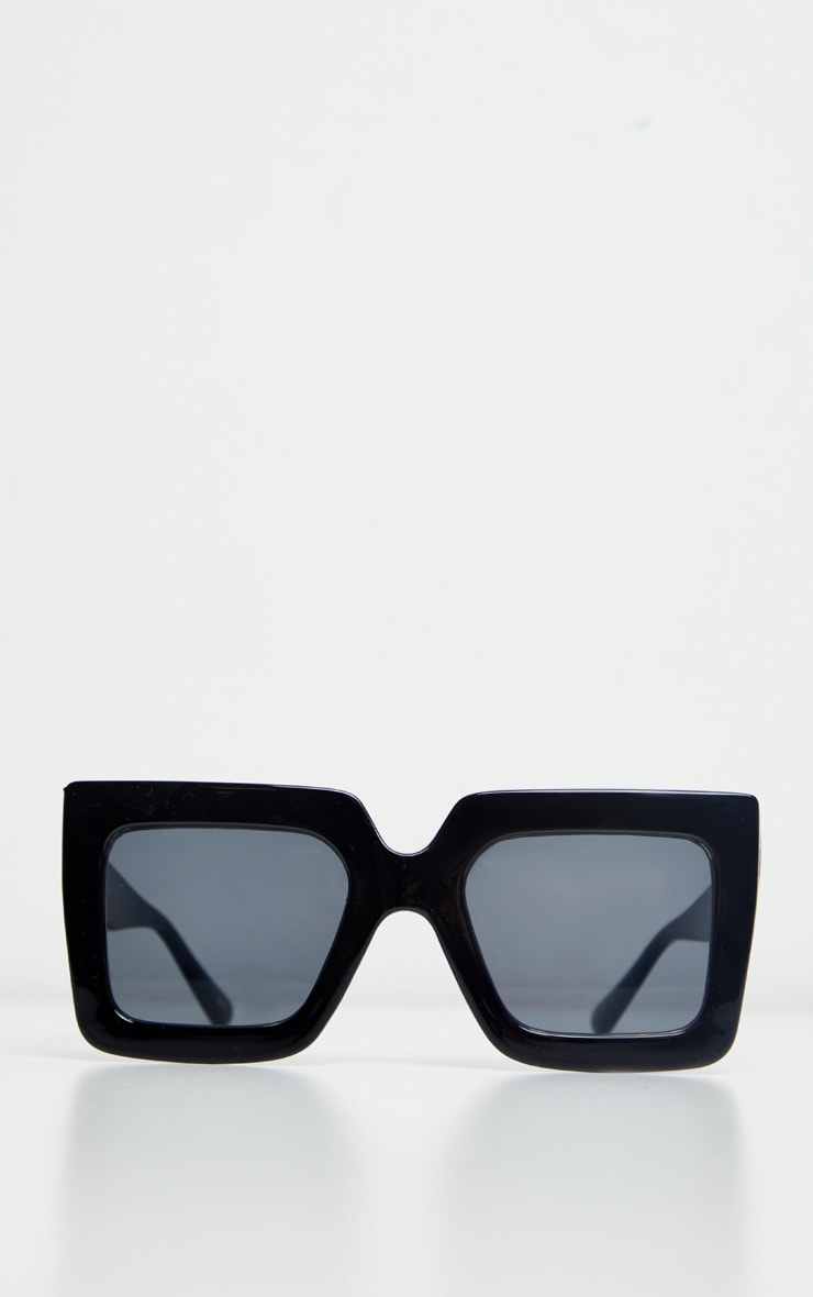 Black Square Oversized Frame Sunglasses 4