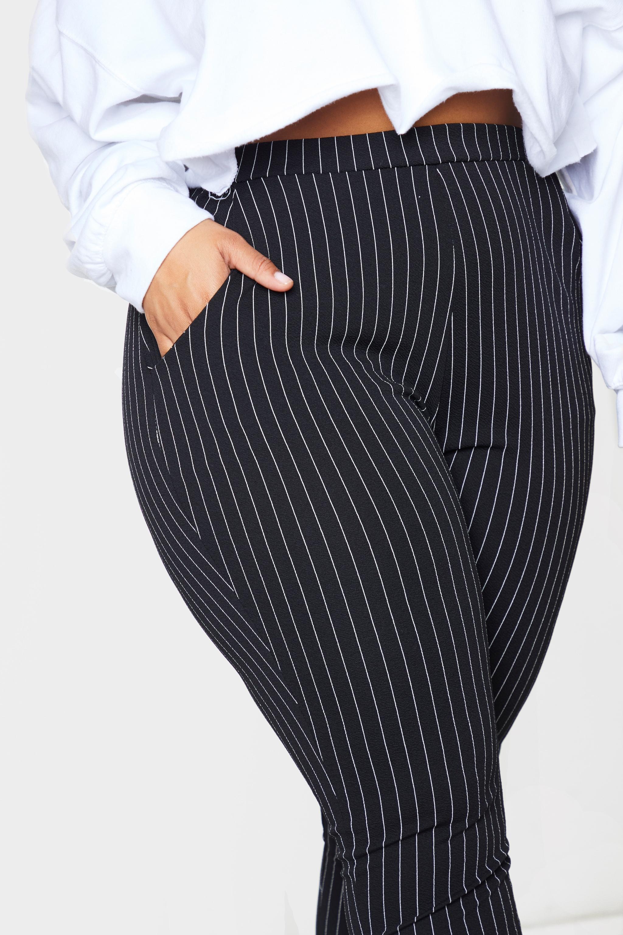 Plus Monochrome Pinstripe Skinny Pants 4