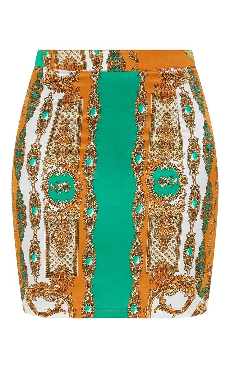 Petite Orange Scarf Print  Skirt Co-ord 3
