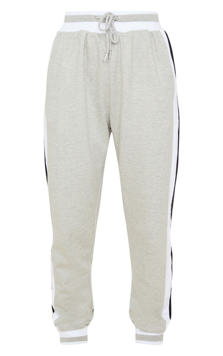 Grey Stripe Cuff Joggers 3