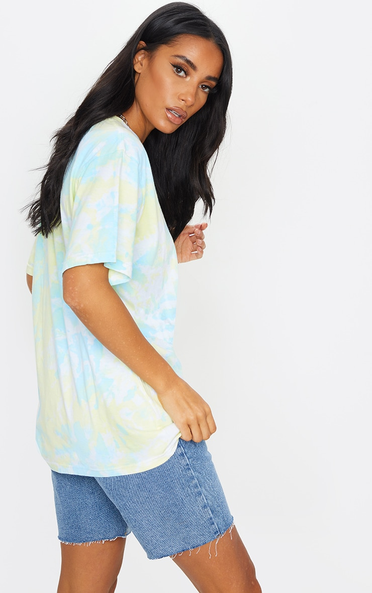 Multi Printed Tie Dye Boyfriend Fit T Shirt 2