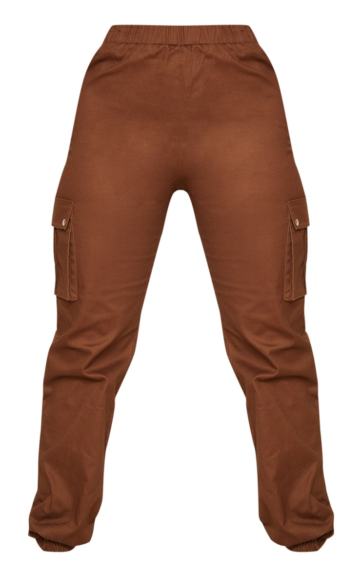 Chocolate Pocket Detail Cargo Trousers 3