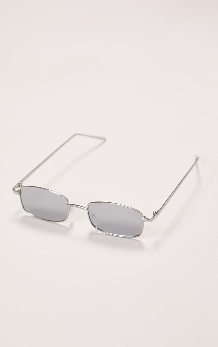 Silver Frame Revo Slim Rectangle Sunglasses 5