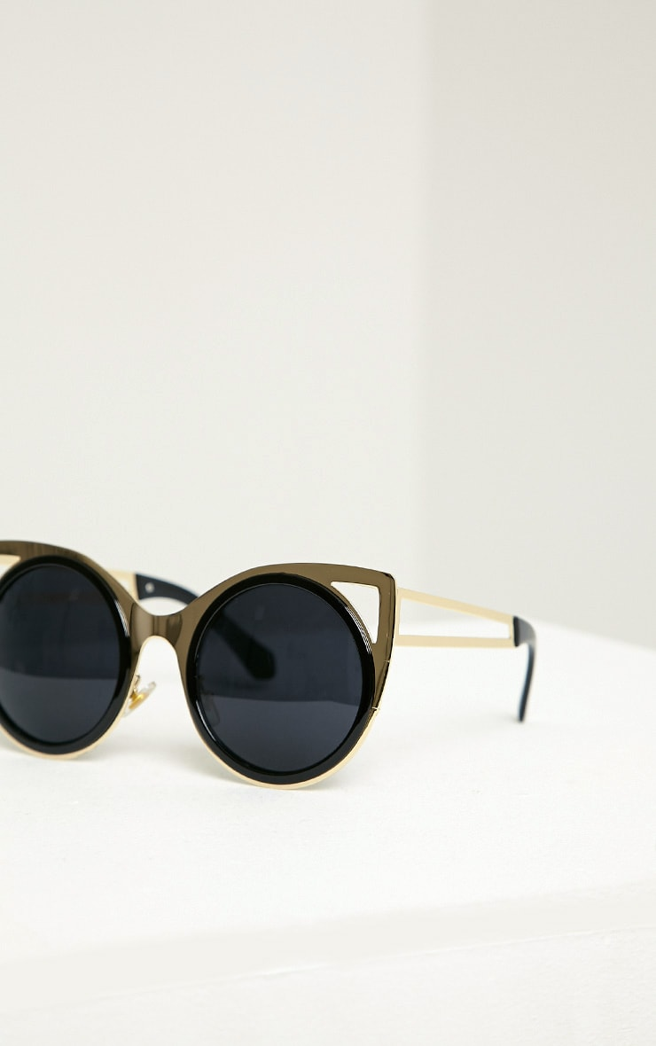 Rea Gold Frame Cat Eye Sunglasses 4