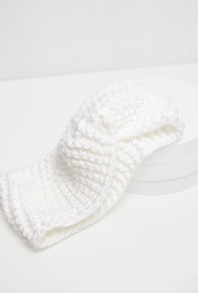 Cream Knit Knotted Headband