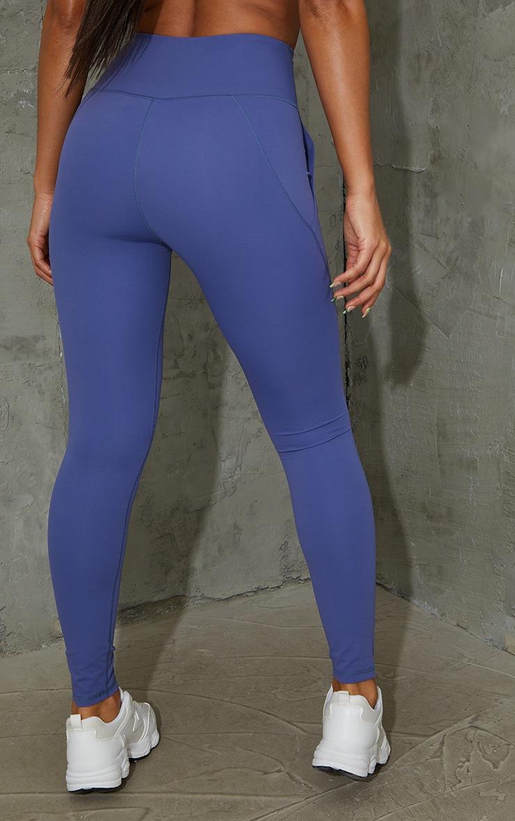 Legging bleu Sculpt Luxe à détail poches 3
