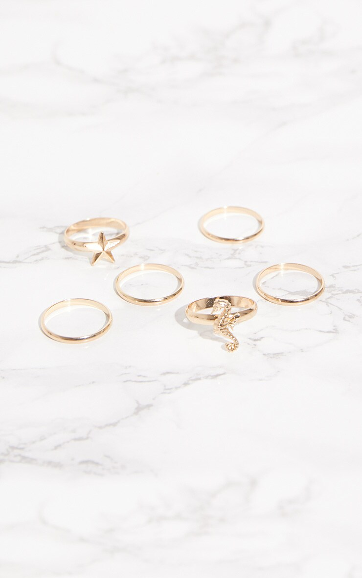 Gold Sea Nautical Ring Set 2