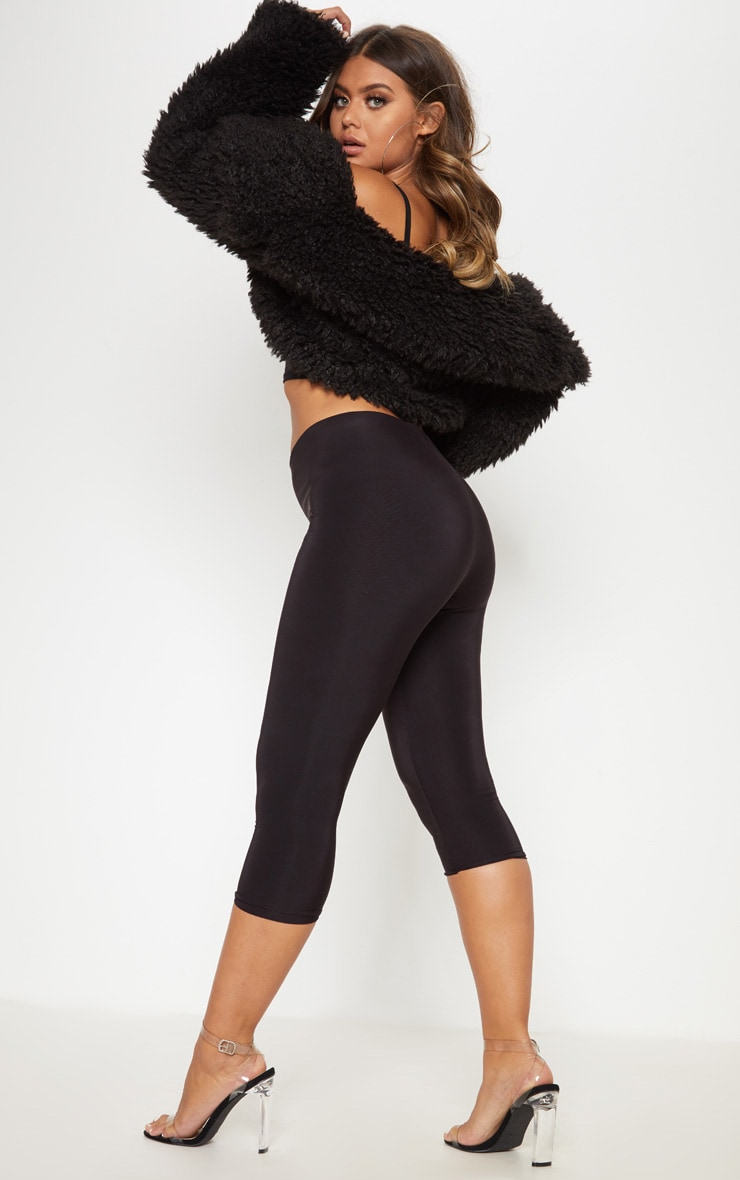 Rio Black Slinky Cropped Leggings 1