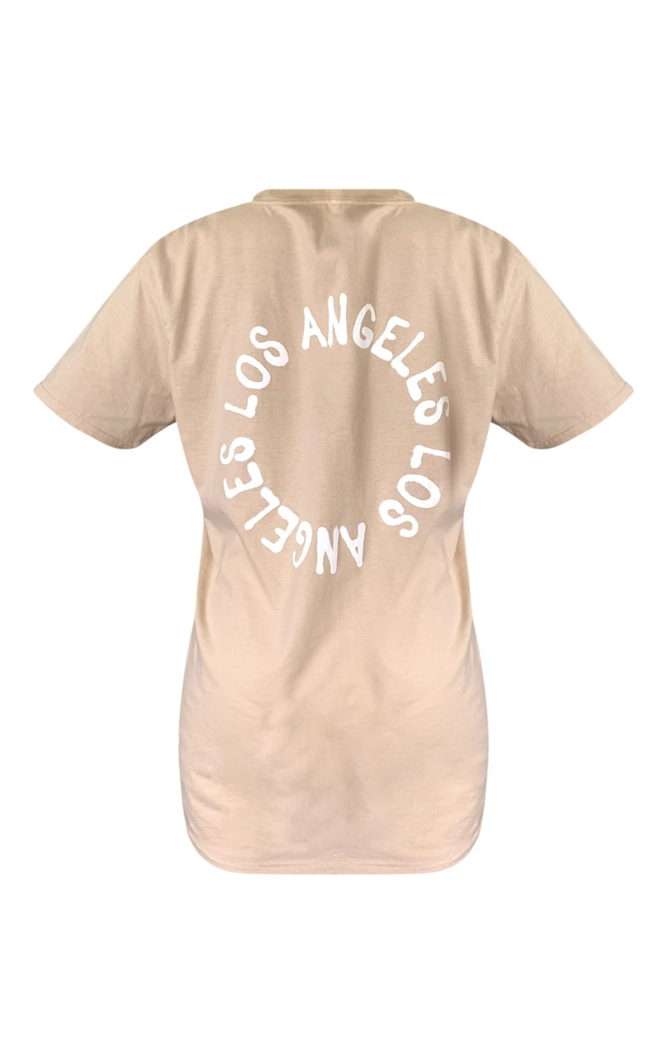 Sand La Oversized T Shirt 5