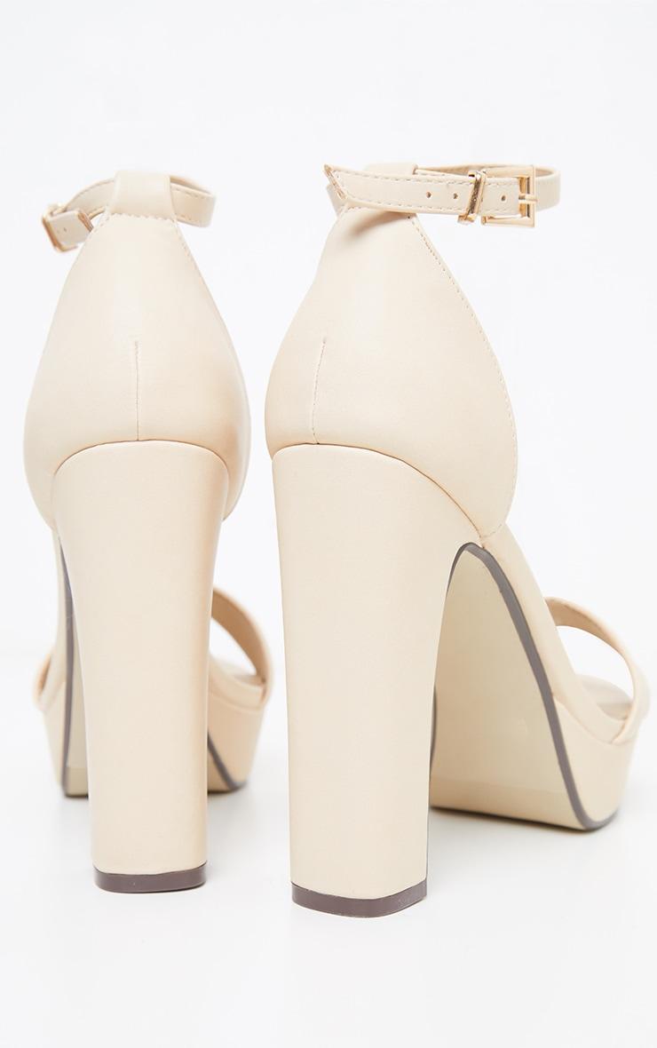 Taya Nude PU Platform Sandals 4