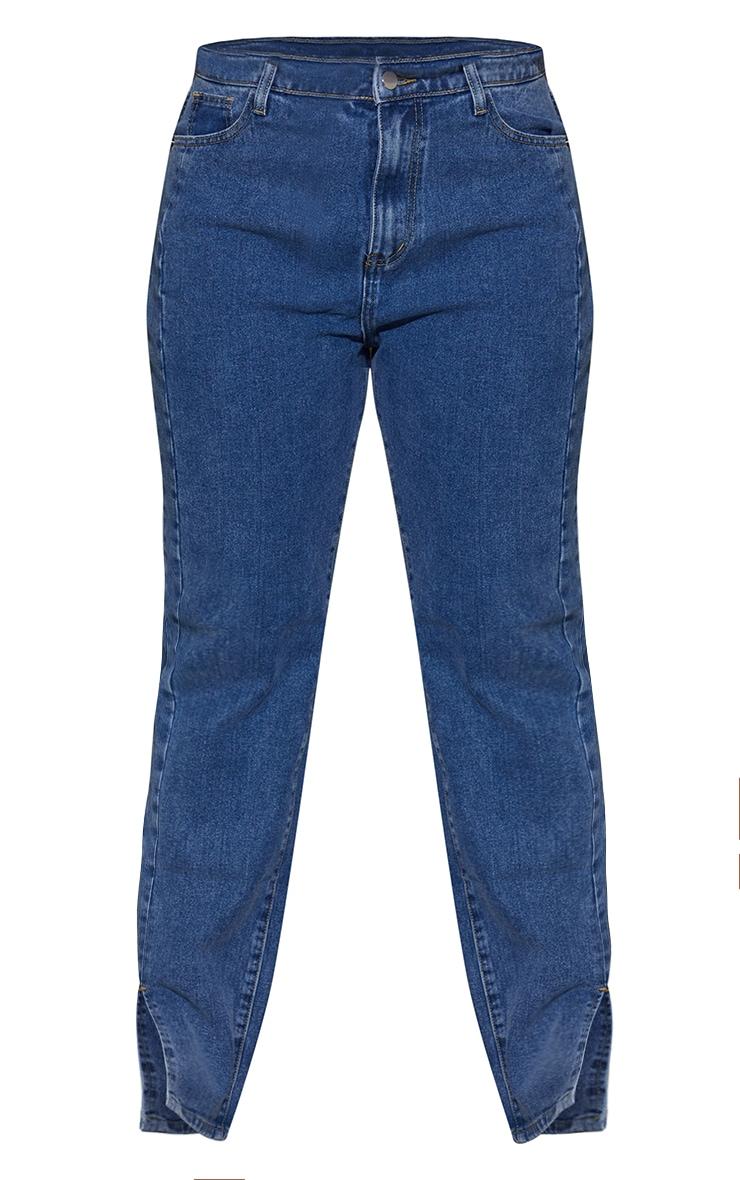 Plus Vintage Wash Double Side Seam Split Hem Jeans 5