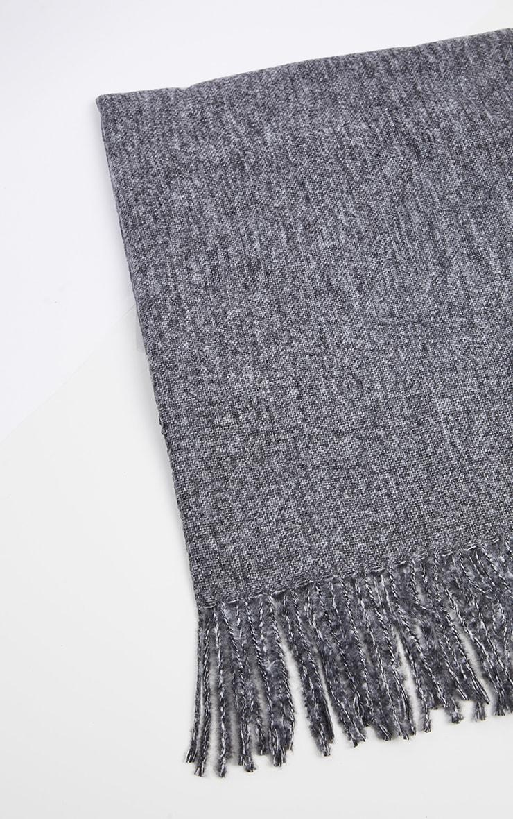 Grey Plain Scarf 2