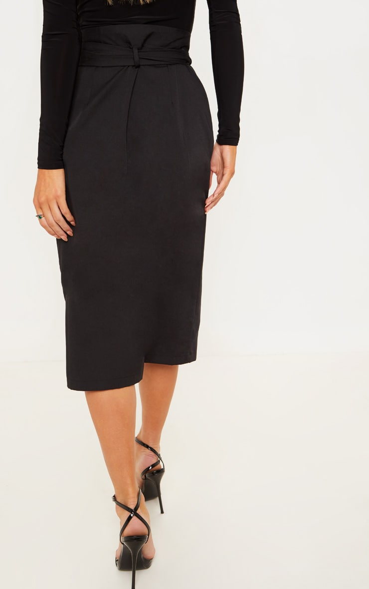 Black Belted Waist Utility Skirt 4
