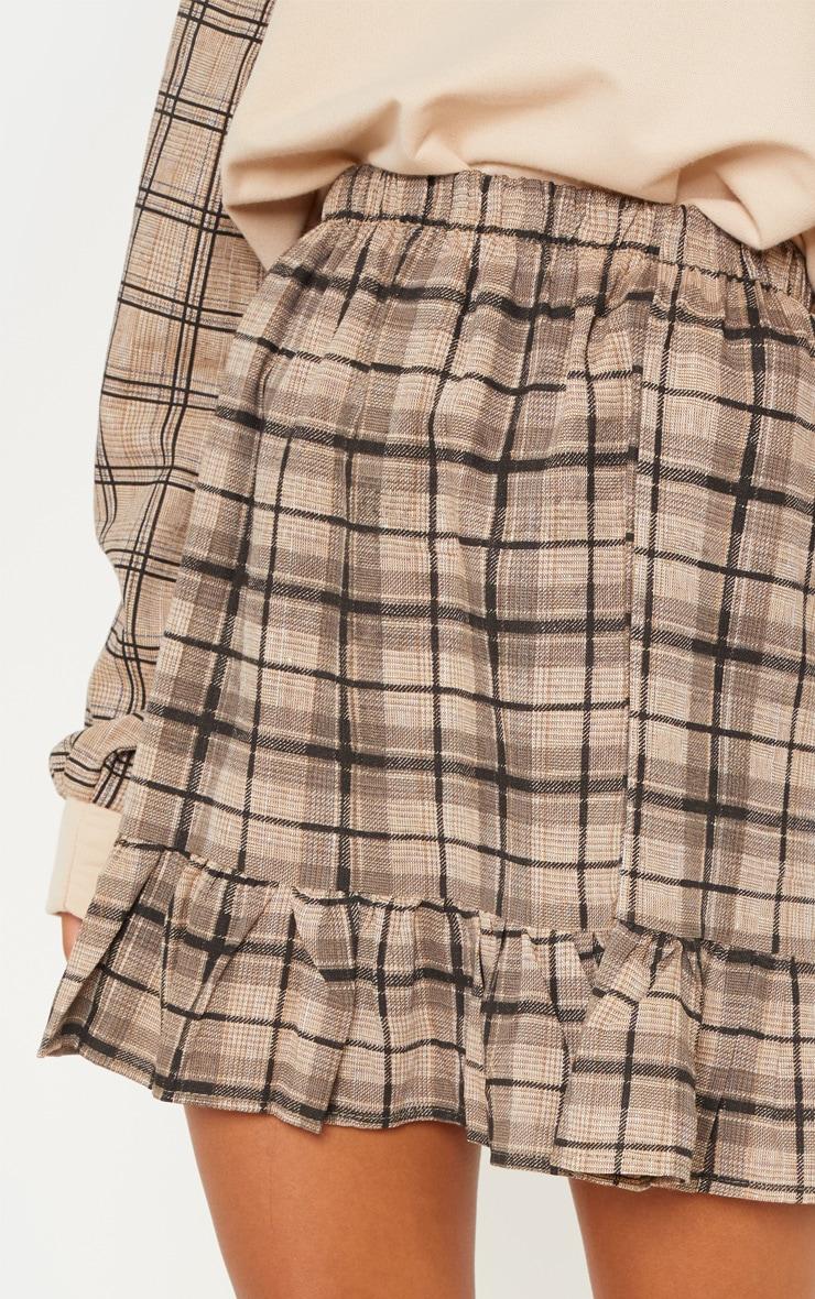 Black Check Frill Hem Mini Skirt  6