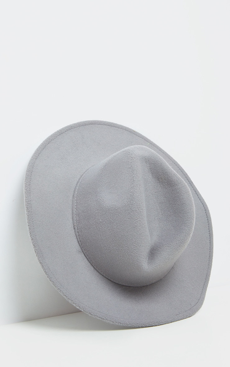 Grey Fedora Hat 2