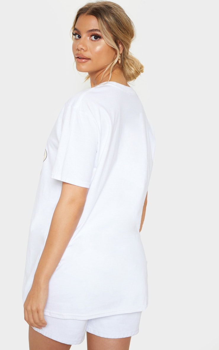 White Disney Timon & Pumbaa Print Oversized T Shirt 2