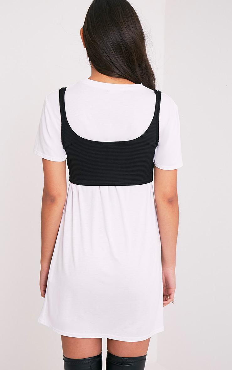 Kimmey top court corset noir à lacets 2