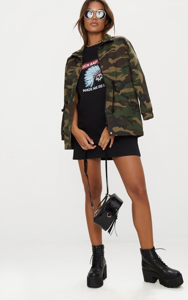 Black Rock And Roll T Shirt Dress 4