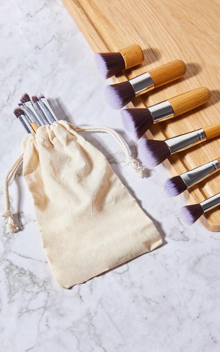 Zoe Ayla Professional 11 Piece Bamboo Eco Make-Up Brush Set With A Fabric Case 1