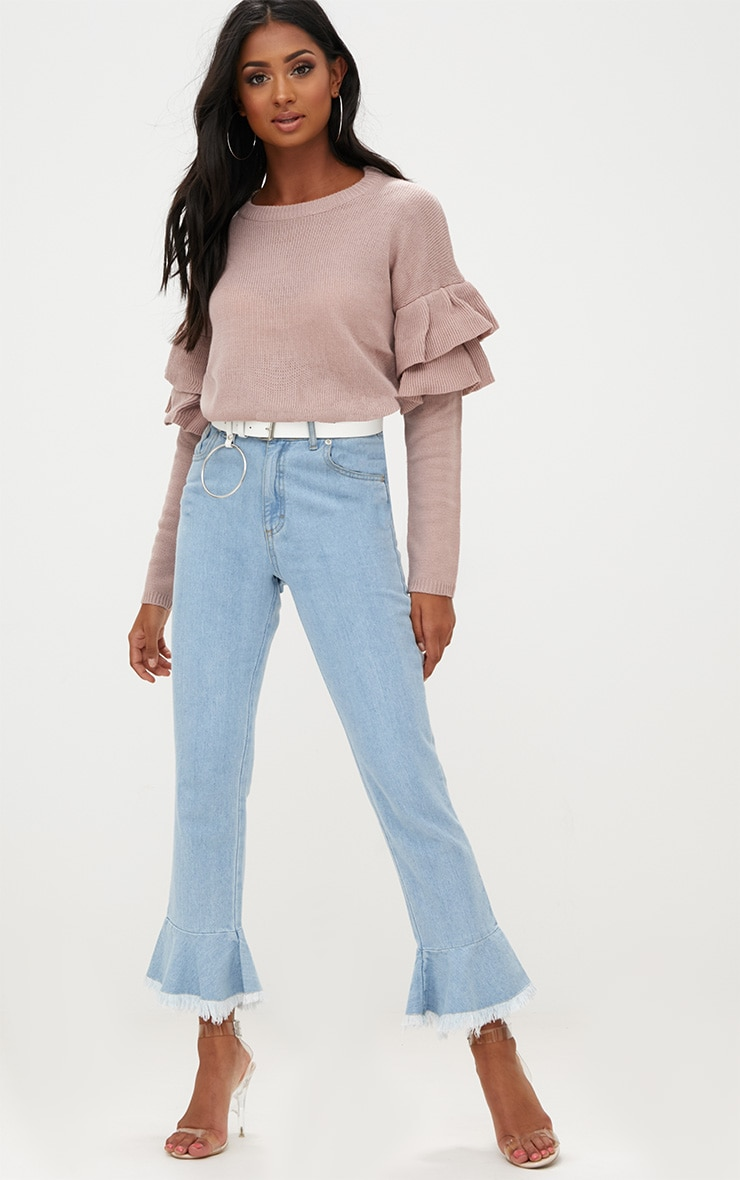 Blush Double Frill Sleeve Jumper 4