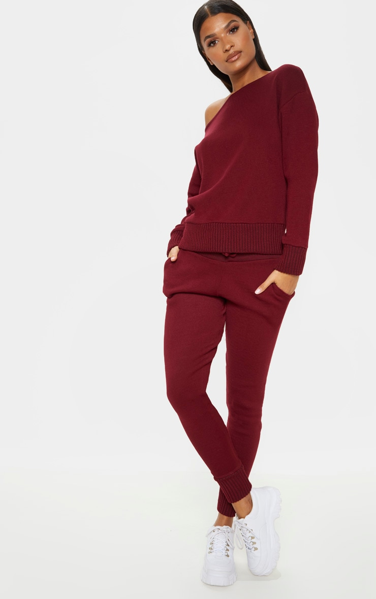 Ensemble lounge en tricot bordeaux 4
