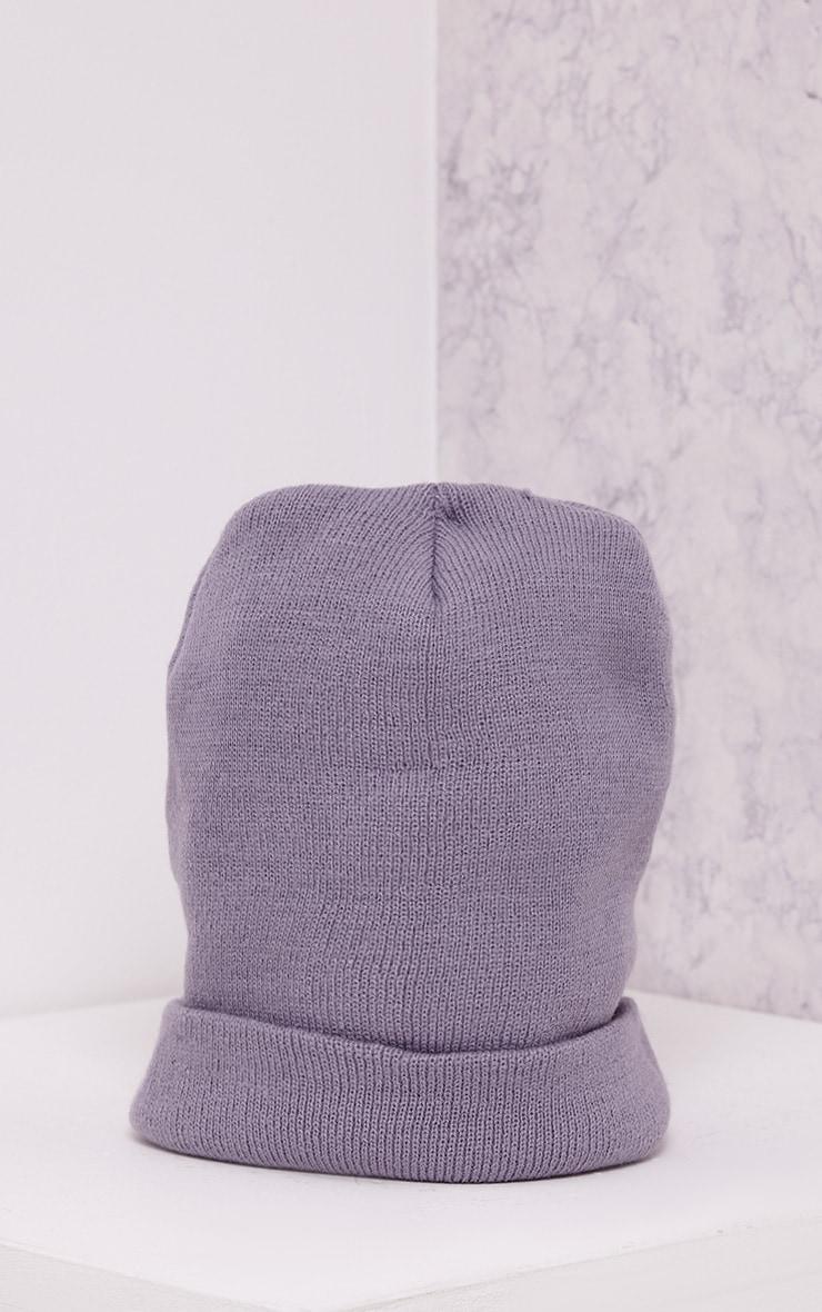 Linie Grey Beanie Hat 3
