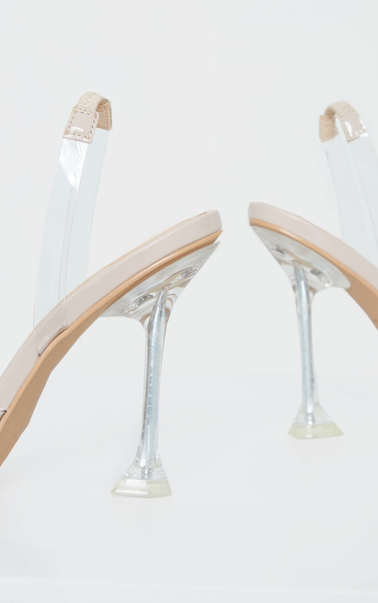 Clear Cake Stand Sling Back Point Toe Court Shoe 4