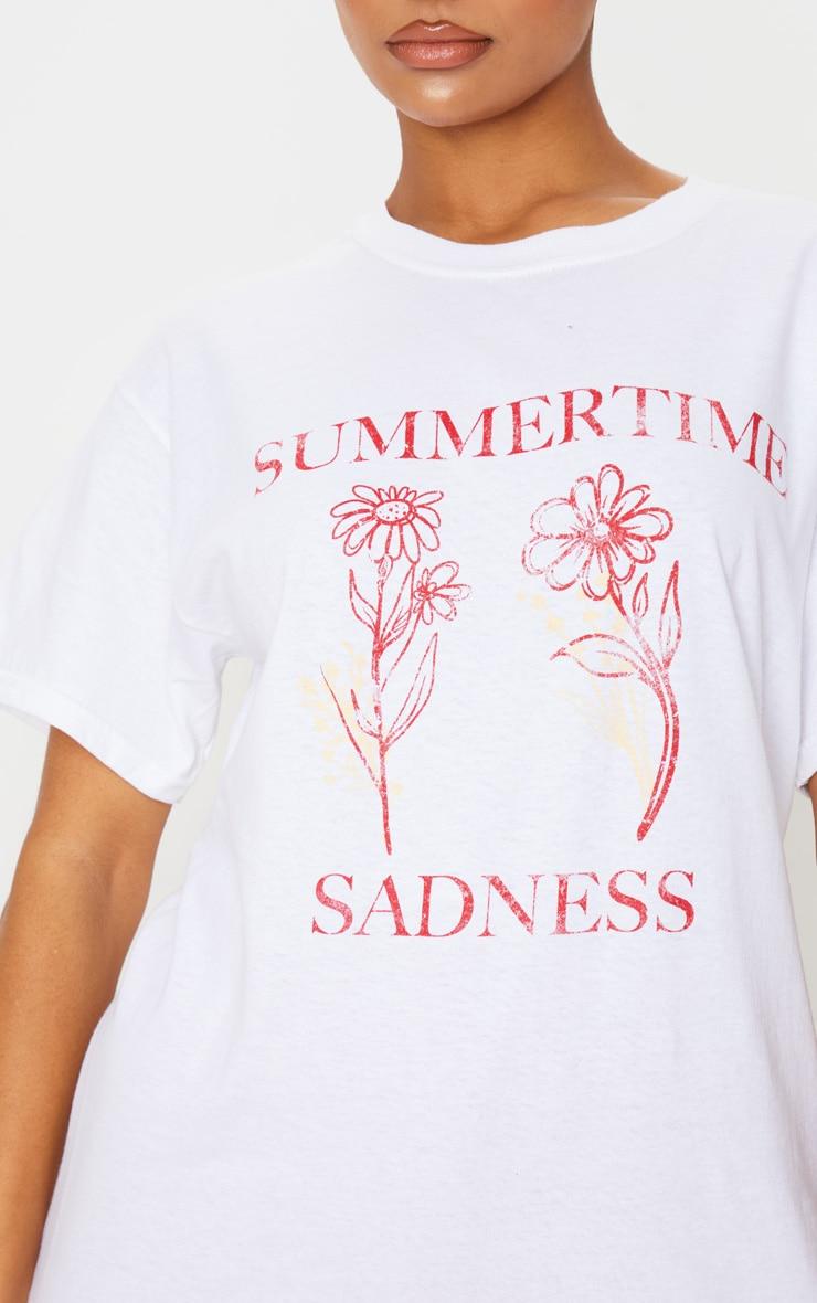 White Summertime Sadness T Shirt 5