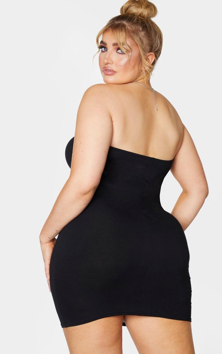 Plus Black Jersey Bandeau Bodycon Dress 2
