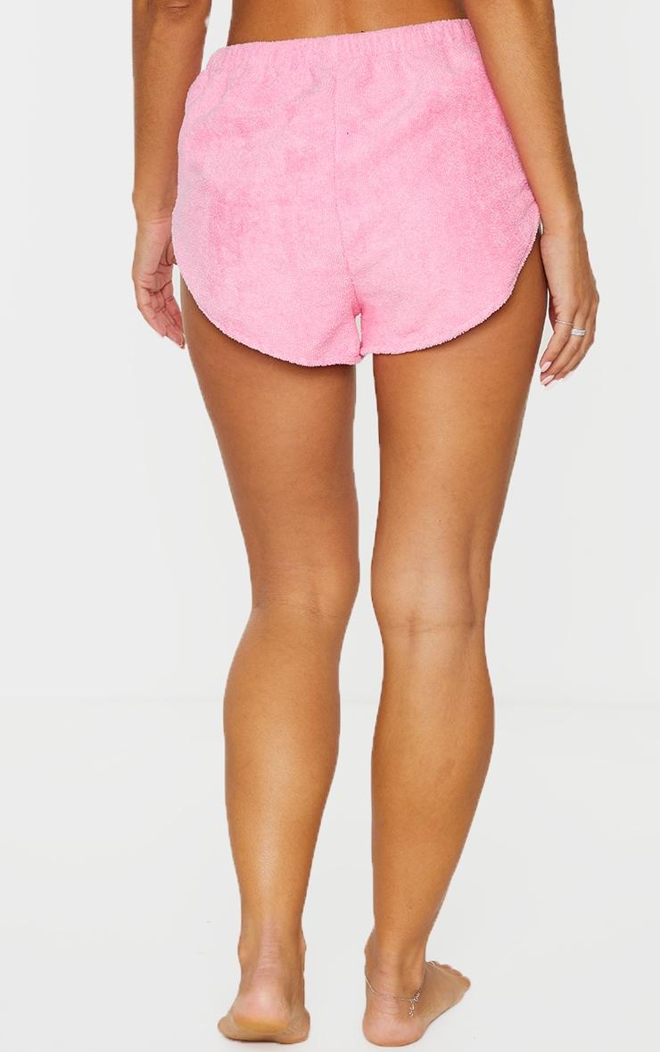 Pink Chunky Towel Beach Shorts   3