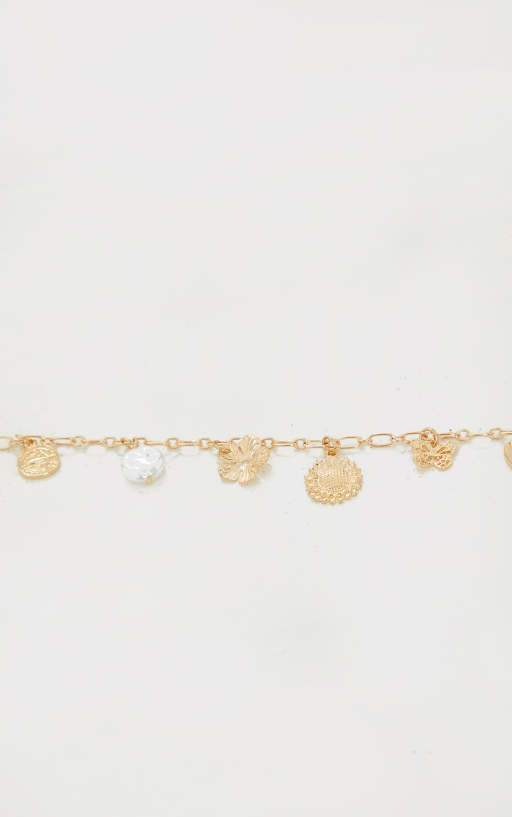 Gold Assorted Charm Necklace 3
